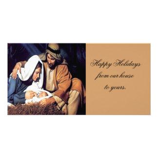 Christmas family  photocard photo card