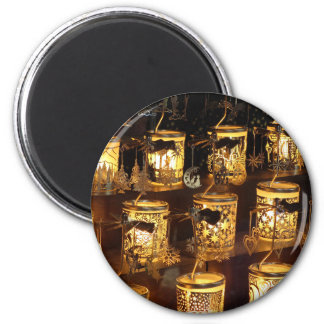 Christmas family tea lights magnet