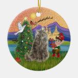 Christmas Fantasy - Norwegian Forest cat Ornament