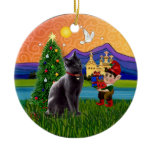 Christmas Fantasy - Russian Blue cat Christmas Tree Ornaments