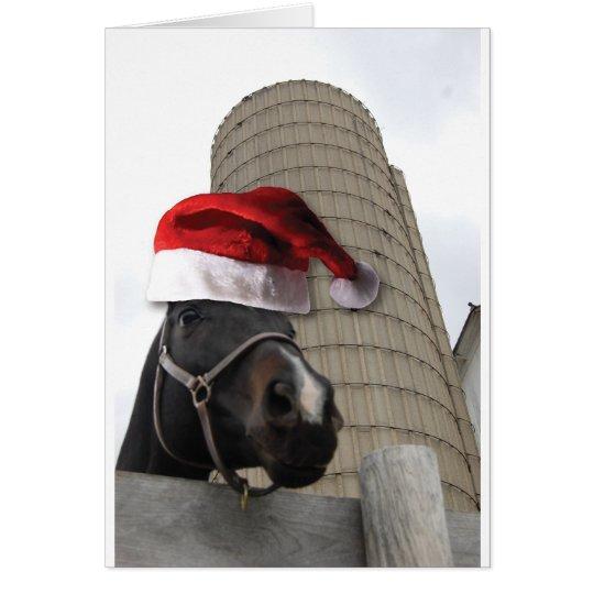 Christmas Farm Horse Card
