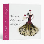 Christmas Fashion Illustration with parcel Binder