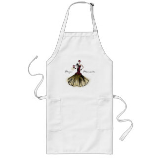 Christmas Fashion Illustration with parcel Long Apron