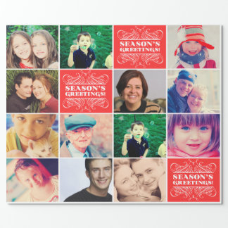 Christmas Favorite Photos Gift Wrapper Wrapping Paper