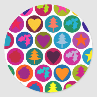 Christmas favourites classic round sticker