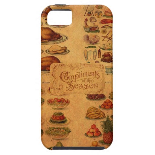 Christmas Feast de señora Beeton iPhone 5 Carcasas