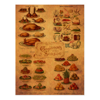 Christmas Feast de señora Beeton Tarjeta Postal