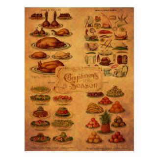 Christmas Feast de señora Beeton Tarjetas Postales