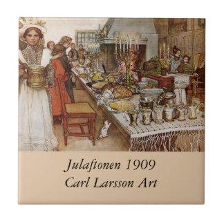 Christmas Feast Julaftonen 1909 Tile