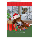 Christmas, Feliz Navidad, Spanish, Cat, Teddy Bear Cards