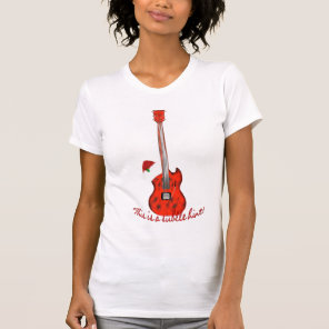 Christmas Female T Subtle Hint for a Guitar T-Shirt