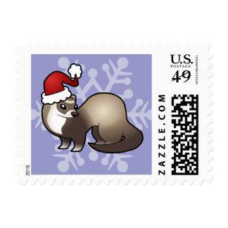 Christmas Ferret Postage