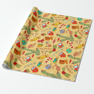 Christmas fervour wrapping paper