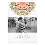 Christmas Festive Flower Holiday Photo Greetings Invite