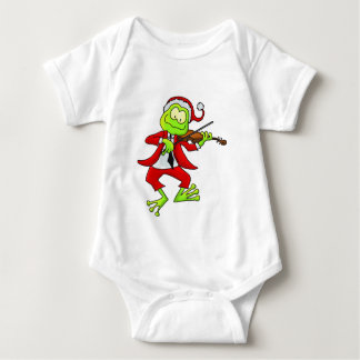 Christmas Fiddle Frog T Shirt
