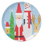 Christmas Figures Melamine Plate
