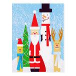 Christmas Figures Postcard