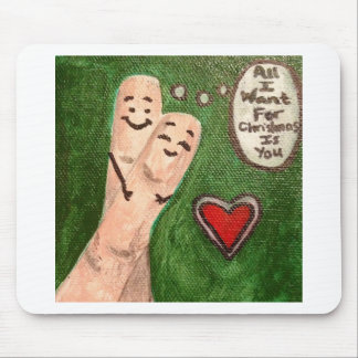 Christmas Finger Puppets Mouse Pad