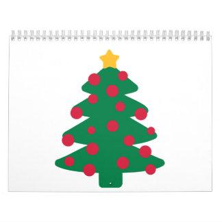 Christmas fir tree calendar