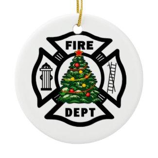 Christmas Fire Dept ornament