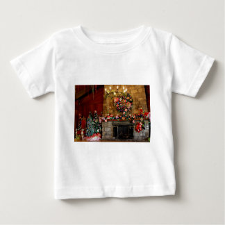 Christmas Fire Place Scene Baby T-Shirt