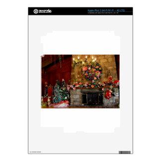 Christmas Fire Place Scene iPad 3 Skins