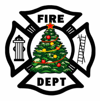 Christmas Firefighter Cutout