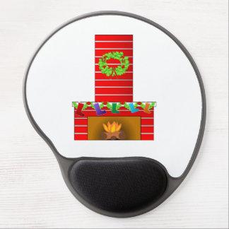 Christmas fireplace clipart gel mouse mat