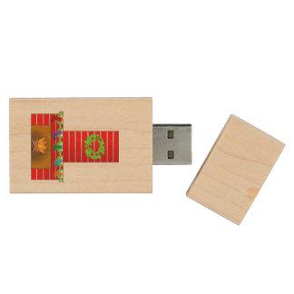 Christmas fireplace clipart wood USB 2.0 flash drive