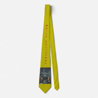 Christmas Fireplace Gold NectTie Neck Tie
