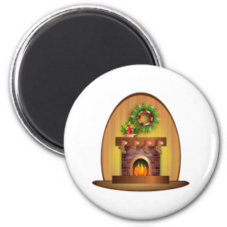 Christmas Fireplace Magnets