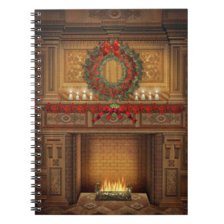 Christmas Fireplace Notebook