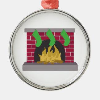 Christmas Fireplace Christmas Tree Ornaments