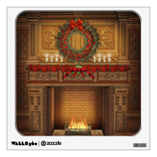 Christmas Fireplace Wall Decal