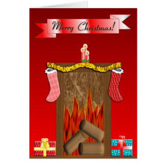 Christmas Fireside Card