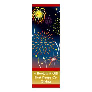 Christmas Fireworks Bookmark Mini Business Card