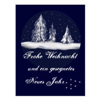 Christmas firs - postcard