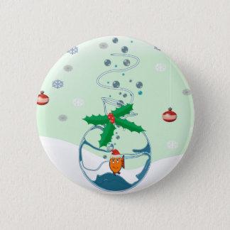 Christmas Fish Button