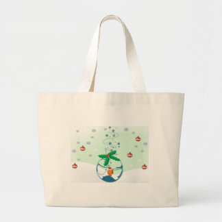 Christmas Fish Large Tote Bag