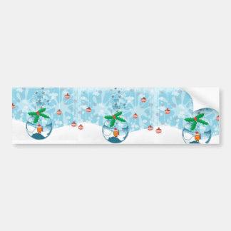 Christmas Fish Splat Bumper Sticker