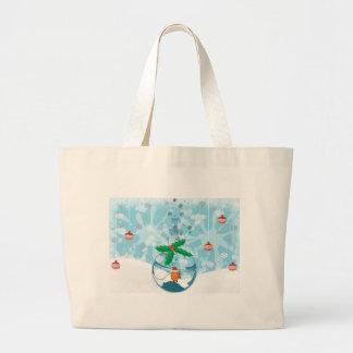 Christmas Fish Splat Large Tote Bag