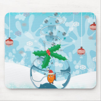 Christmas Fish Splat Mouse Pad