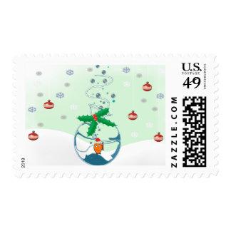 Christmas Fish Stamp