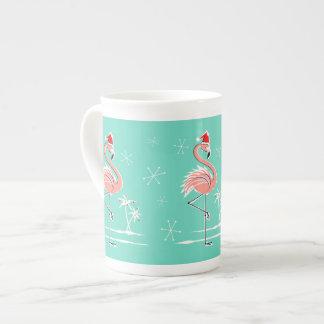 Christmas Flamingo bone china mug Tea Cup