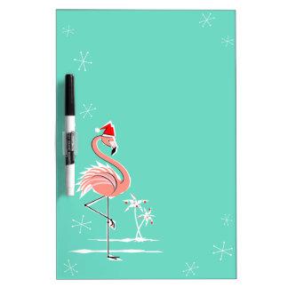 Christmas Flamingo dry erase board