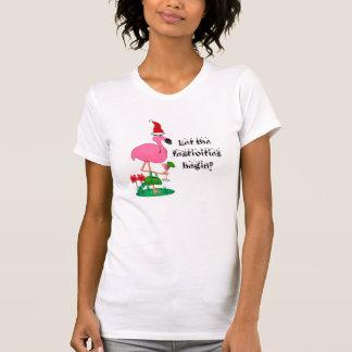 Christmas Flamingo Ladies Shirt