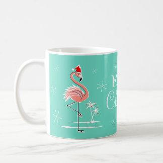 Christmas Flamingo Merry Christmas mug