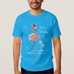 Christmas Flamingo Merry Christmas t-shirt men's