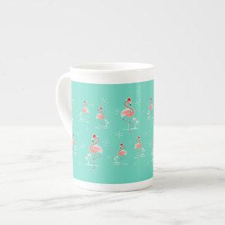 Christmas Flamingo Multi bone china mug