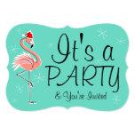 Christmas Flamingo 'Party' invitation bracket